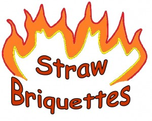 Straw briquettes logo